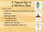 a typical day in a nurture class