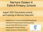 nurture classes in falkirk primary schools