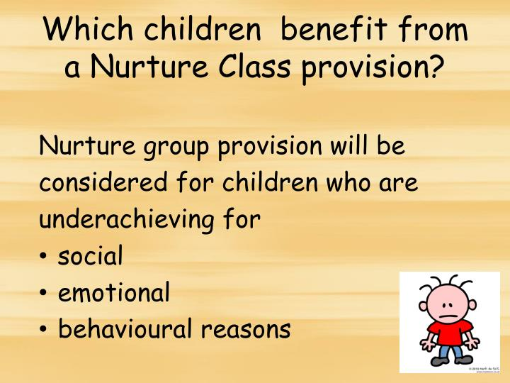 Which children  benefit from a Nurture Class provision?