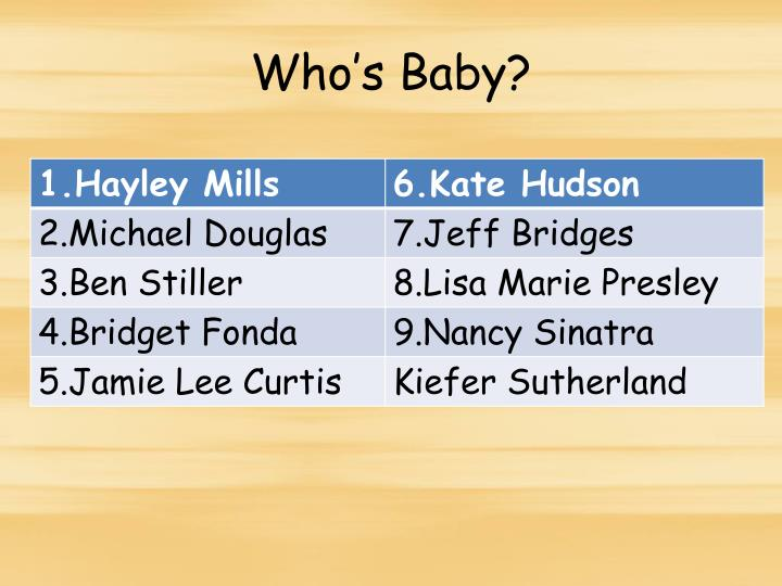 Who's Baby?