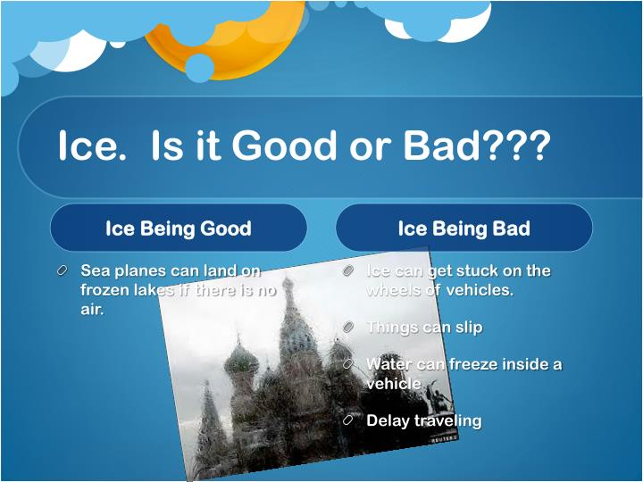Ice.  Is it Good or Bad???