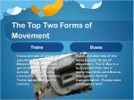 the top two forms of movement