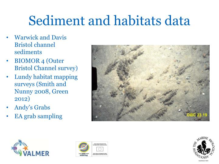 Sediment and habitats data