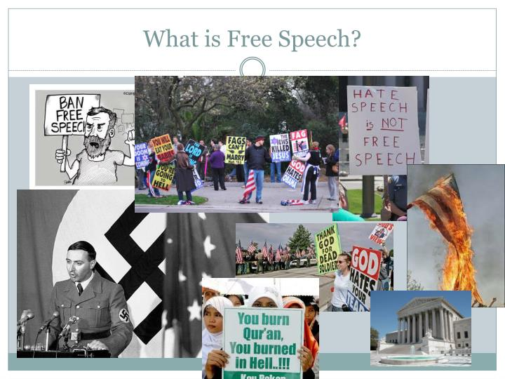 What is free speech