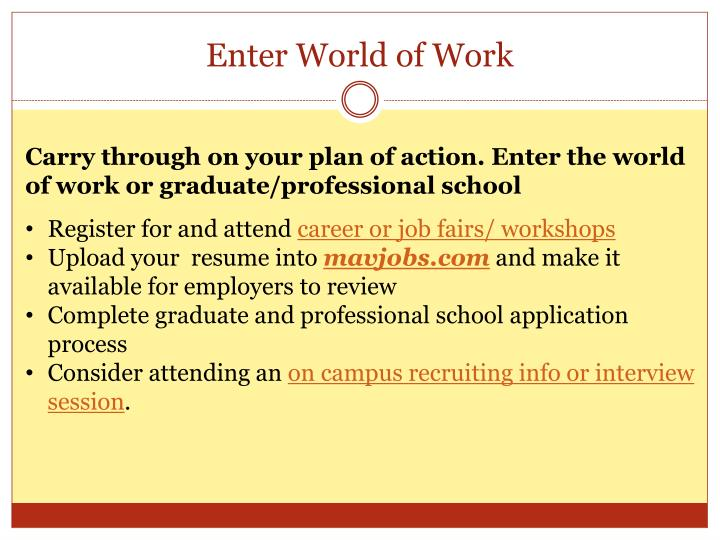 Enter World of Work