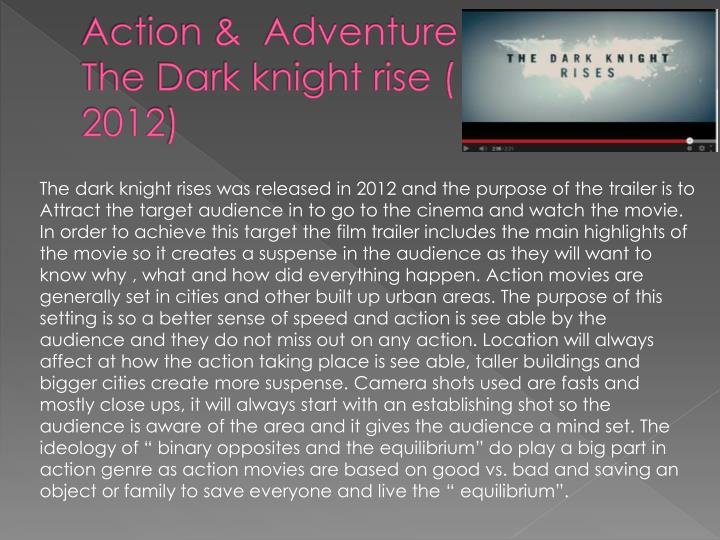 Action adventure the dark knight rise 2012