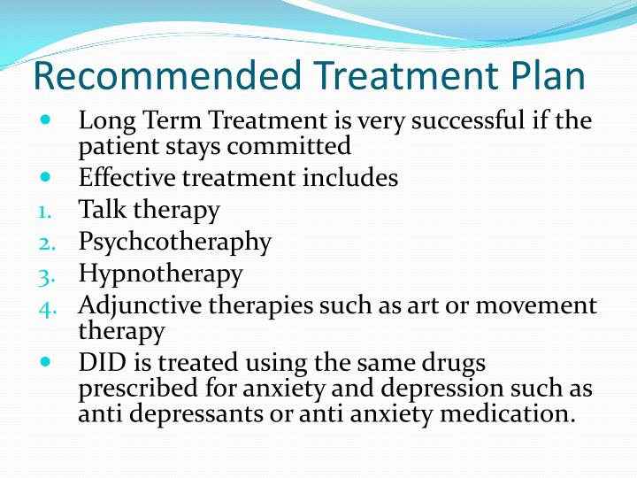 Recommended Treatment Plan