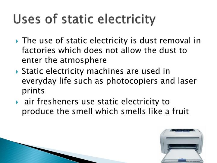 Uses of static electricity