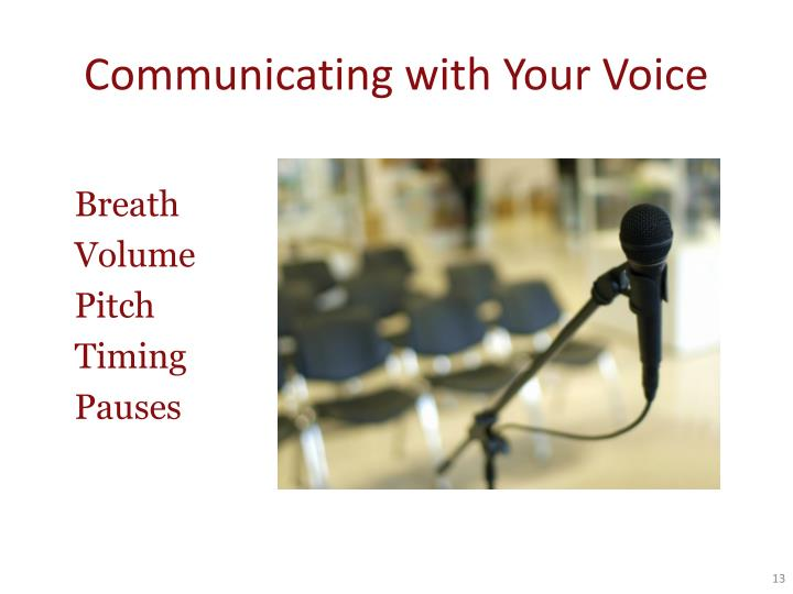 Communicating with Your Voice
