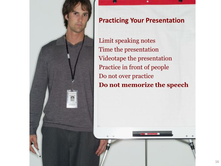Practicing Your Presentation
