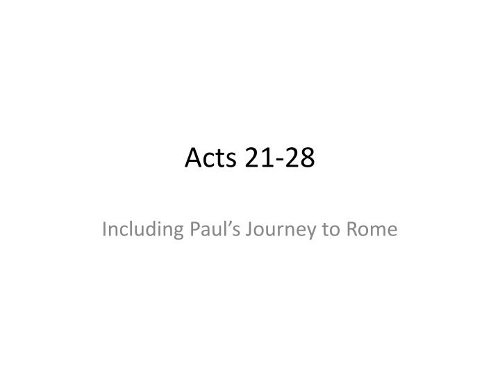 Acts 21 28