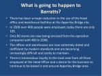 what is going to happen to barratts