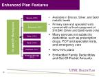 enhanced plan features