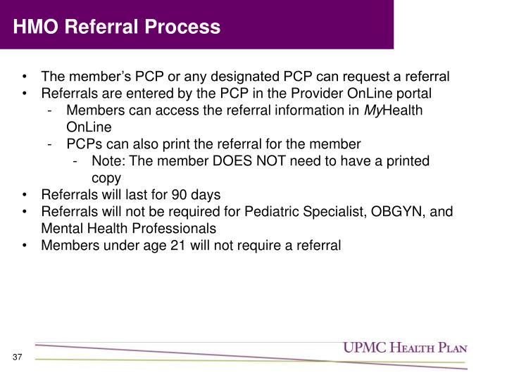 HMO Referral Process