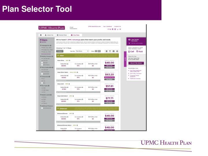 Plan Selector Tool