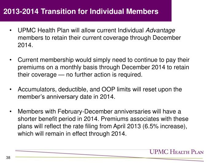 2013-2014 Transition for Individual Members