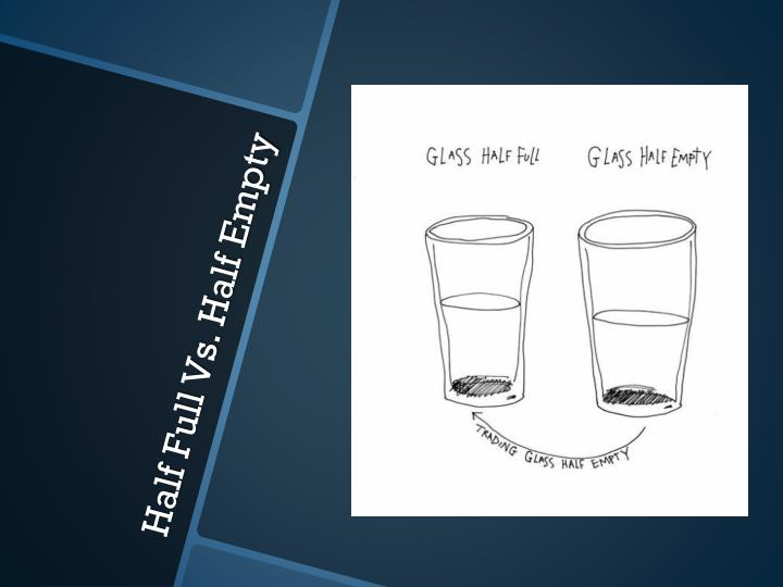 Half full vs half empty
