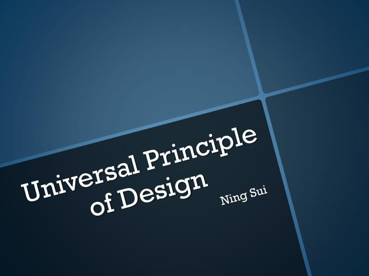 Universal principle of design