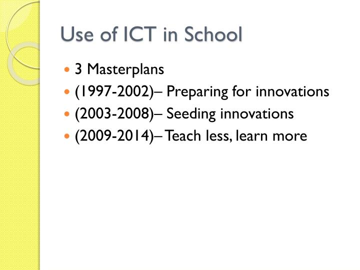 Use of ICT in School