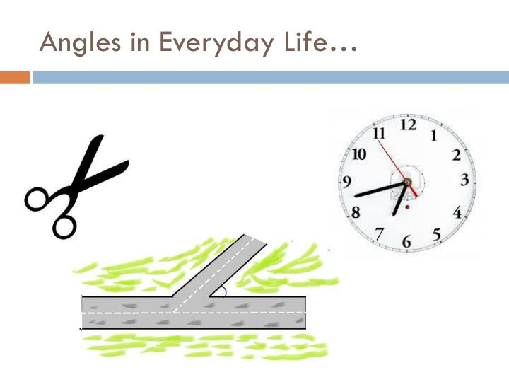 Angles in Everyday Life…