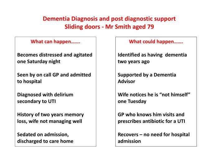 Dementia Diagnosis and post diagnostic support
