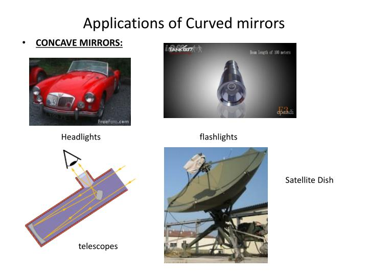 Applications of Curved mirrors