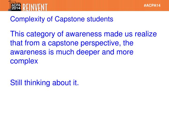 Complexity of Capstone students