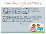 connecting reading writing