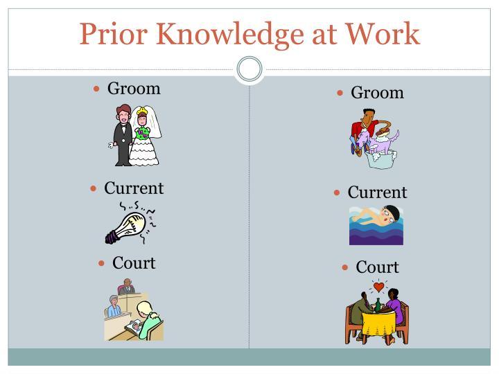 Prior Knowledge at Work
