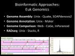 bioinformatic approaches euk genomics