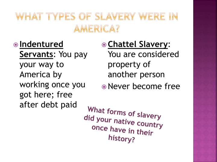 What Types of Slavery were in America?
