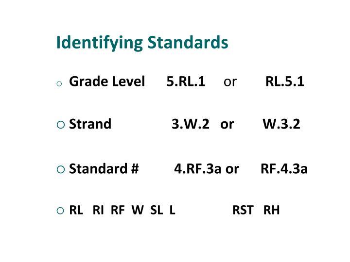 Identifying Standards