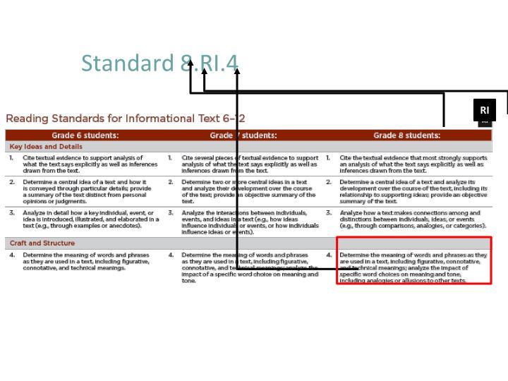 Standard 8.RI.4