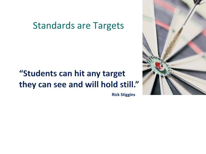 Standards are Targets