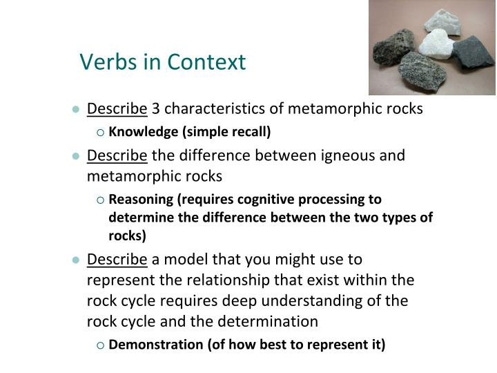 Verbs in Context