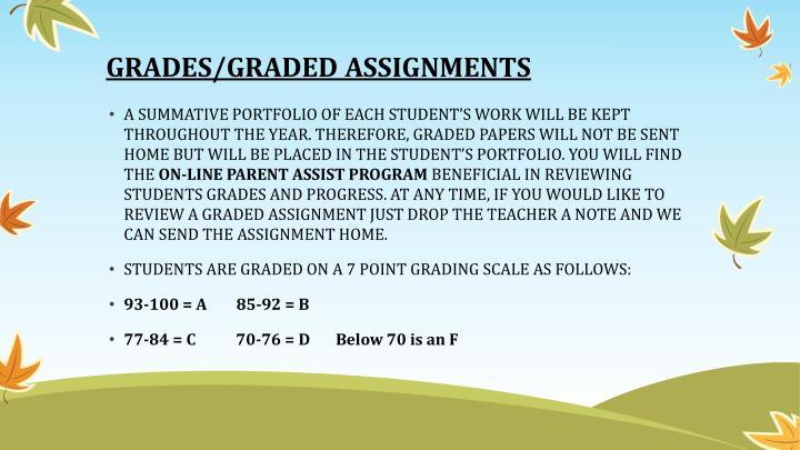 GRADES/GRADED ASSIGNMENTS