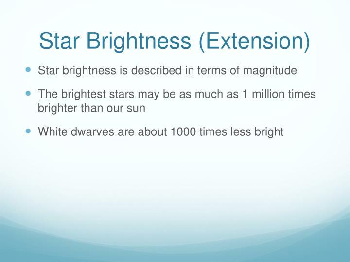 Star Brightness (Extension)