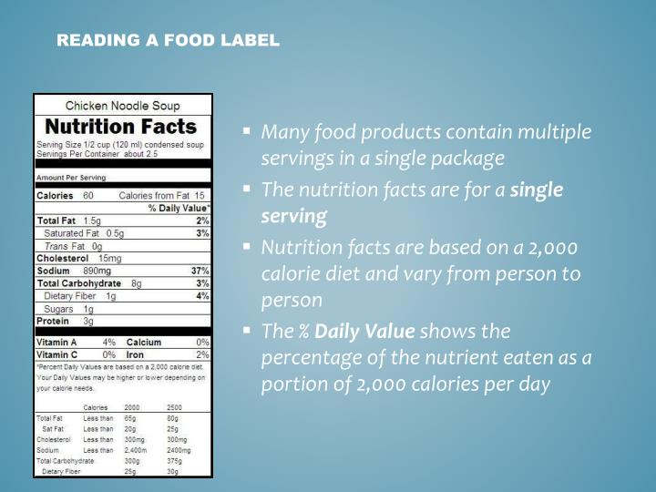Many food products contain multiple servings in a single package