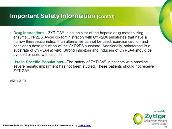 Please see Full Prescribing Information at the end of this presentation, or by