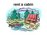 rent a cabin