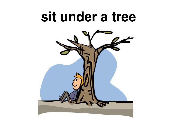 sit under a tree