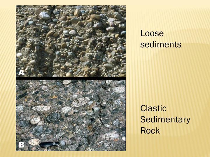 Loose sediments