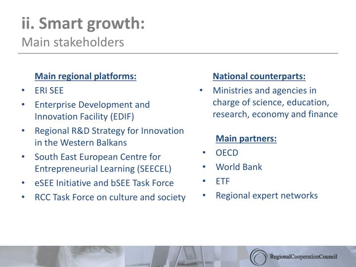 ii. Smart growth: