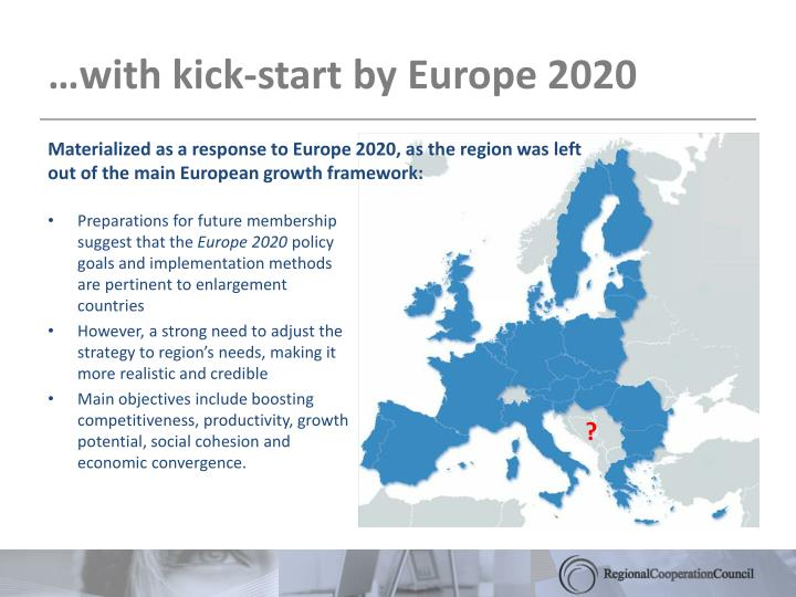 With kick start by europe 2020
