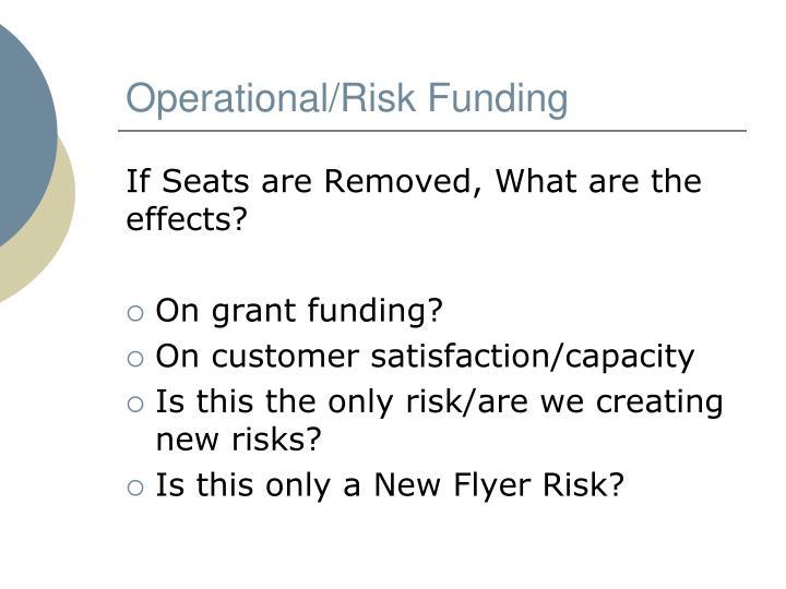 Operational/Risk Funding