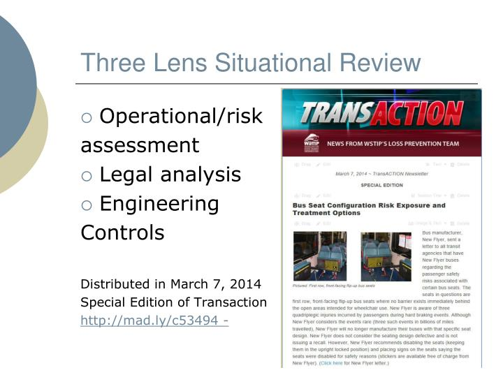 Three Lens Situational Review