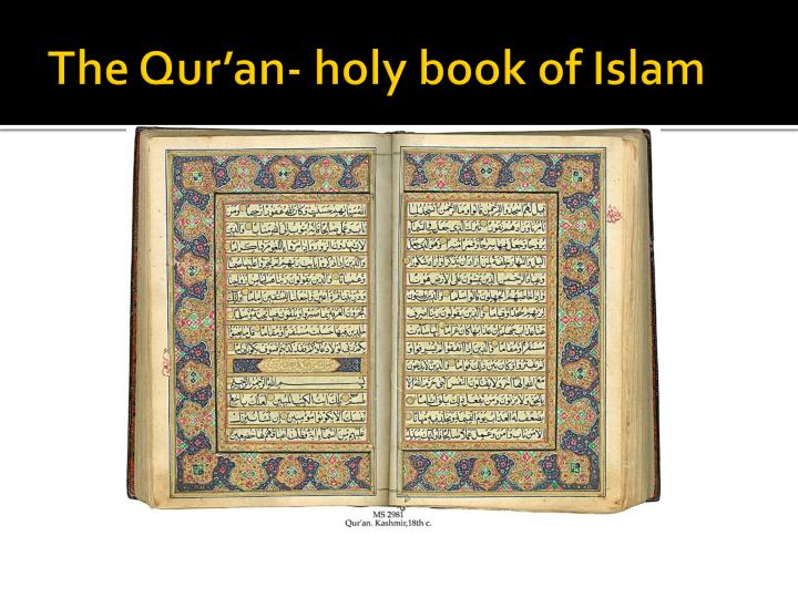 The qur an holy book of islam