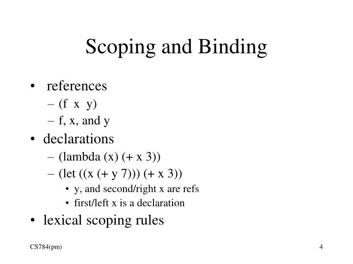 Scoping and Binding
