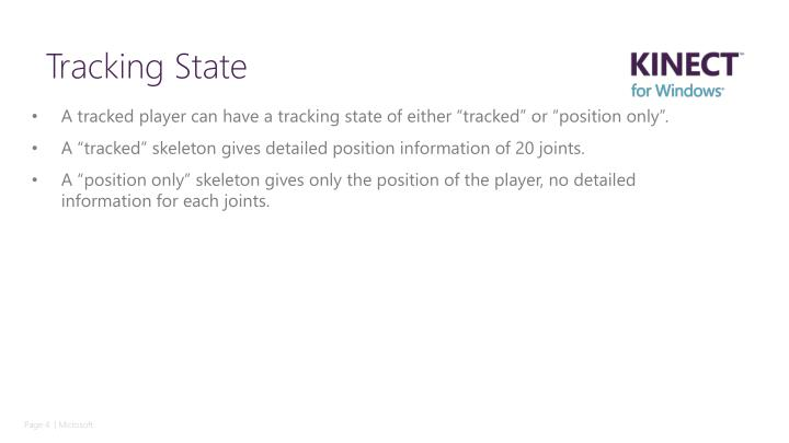"""A tracked player can have a tracking state of either """"tracked"""" or """"position only""""."""