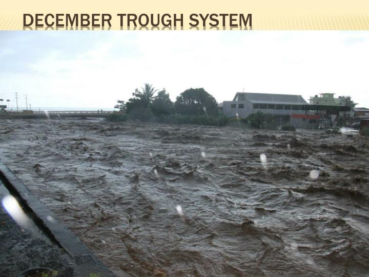 December Trough System